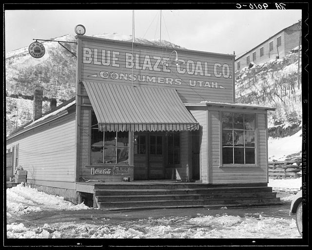 Company store in coal town. Consumers, near Price, Utah