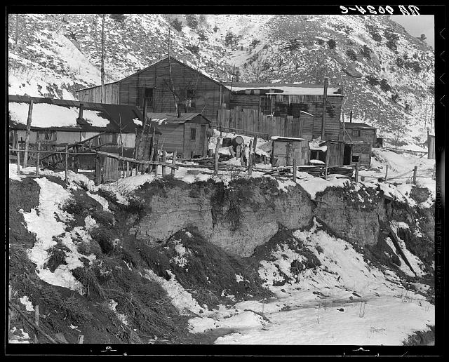 Blue Blaze mine, coal town, company houses. Consumers, near Price, Utah