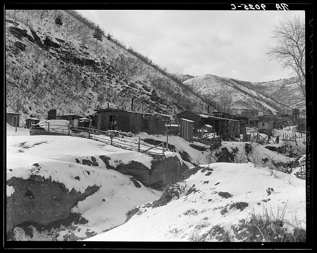 Utah coal miners&#39; houses. Consumer, near Price, Utah. Blue Blaze mine
