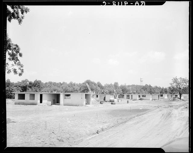 Hightstown, New Jersey. Homes under construction. Thirty-five of these homes are to be completed and ready for occupancy by July 15, 1936
