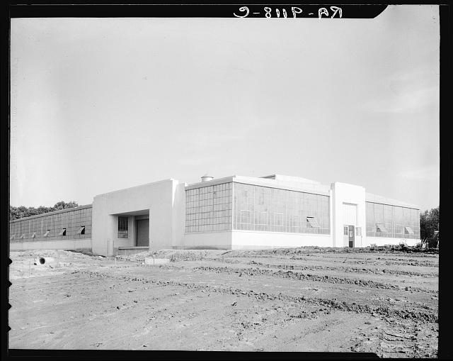 Hightstown, New Jersey. View of nearly completed factory for garment workers