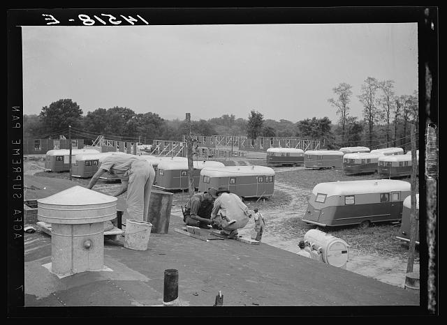 Trailer camp for defense workers at Vultee Aircraft Plant. Nashville, Tennessee