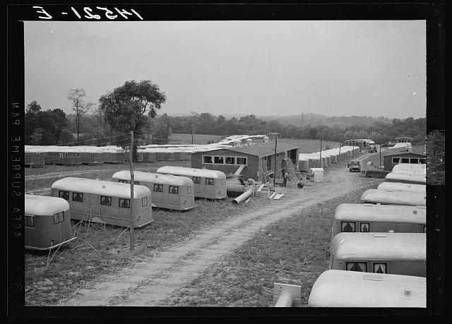 Trailers for defense workers at Vultee Aircraft Plant. Nashville, Tennessee
