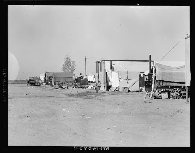 View of Kern County migrant camp. California