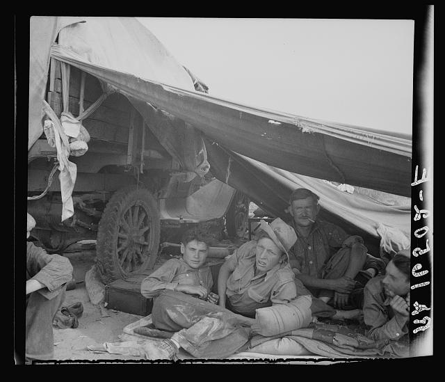 Oklahomans in potato pickers' camp near Shafter, California