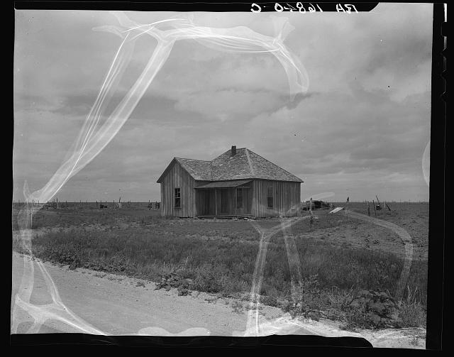 Abandoned shack of a tenant farmer near Roscoe, Texas
