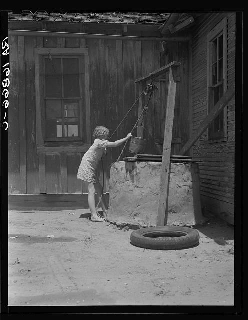 One of a Texas sharecropper's ten children. Hall County, Texas