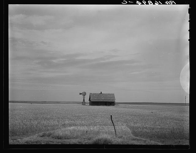 Abandoned house of small farmer. Southwest Oklahoma