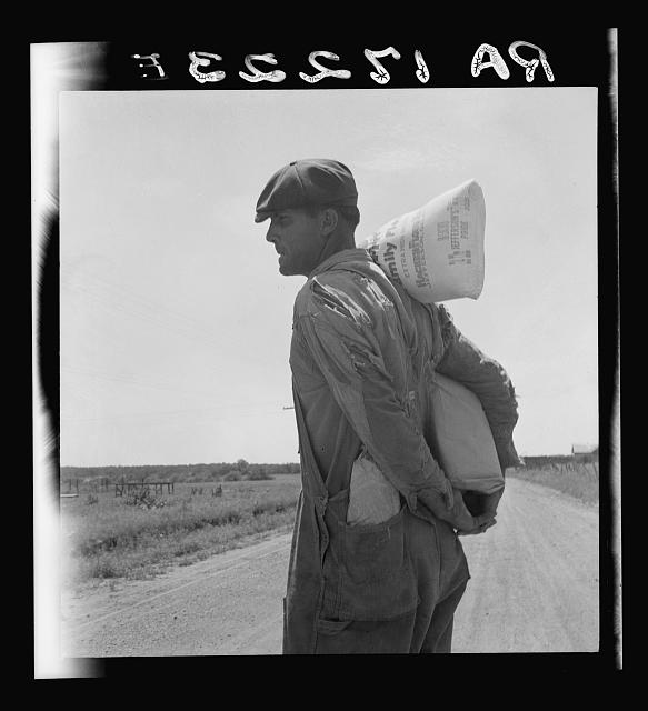 Relief client near Oil City, Oklahoma. Oil City is a source of heavy immigration to California. Carter County, Oklahoma