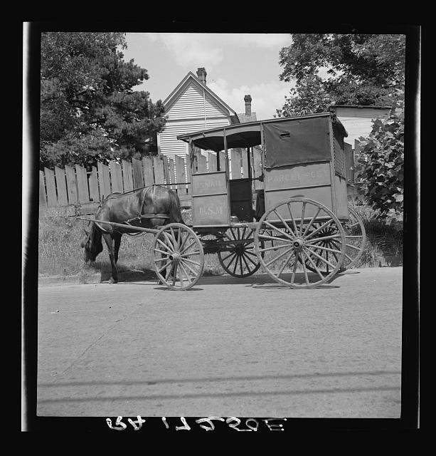 Mail wagon. Marshall, Texas