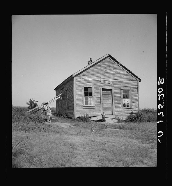 School in center of the mechanized plantation area of the Mississippi Delta