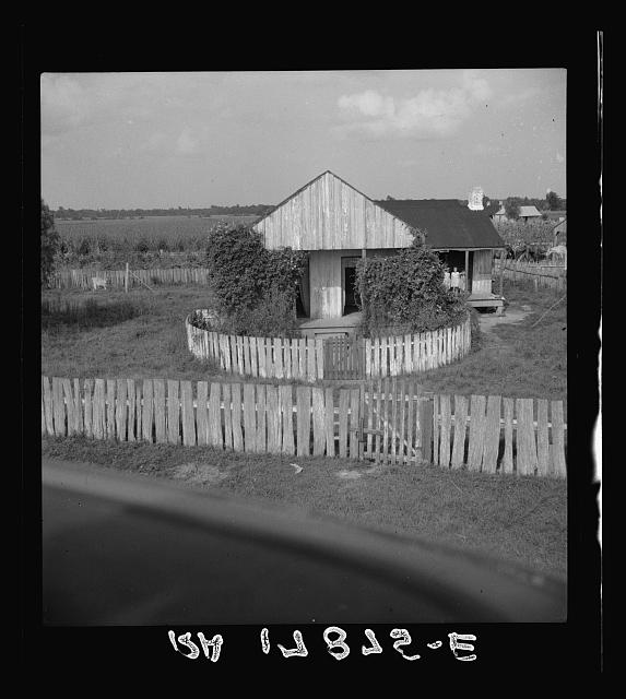 Cabin of sugarcane worker. Bayou La Fourche, Louisiana