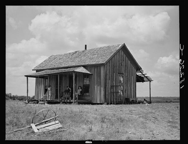Ex-farm family, now on Works Progress Administration (WPA). On U.S. 64, eastern Oklahoma