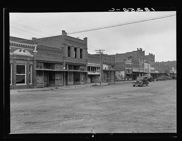Depression and drought struck towns as well as farms. Laborers, clerks, building tradesmen immigrated as well as farm people. Caddo, Oklahoma