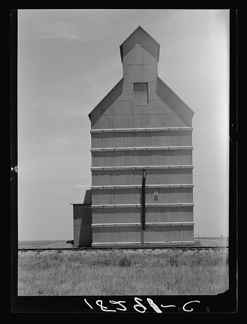 Grain elevator on the Texas Panhandle plains. Everett, Texas