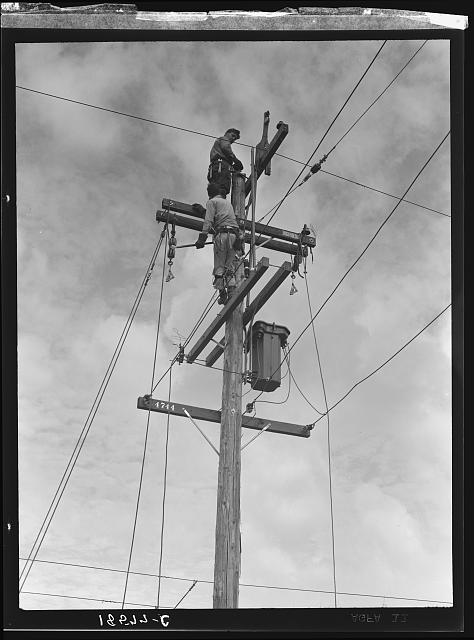 Rural electrification. San Joaquin Valley, California