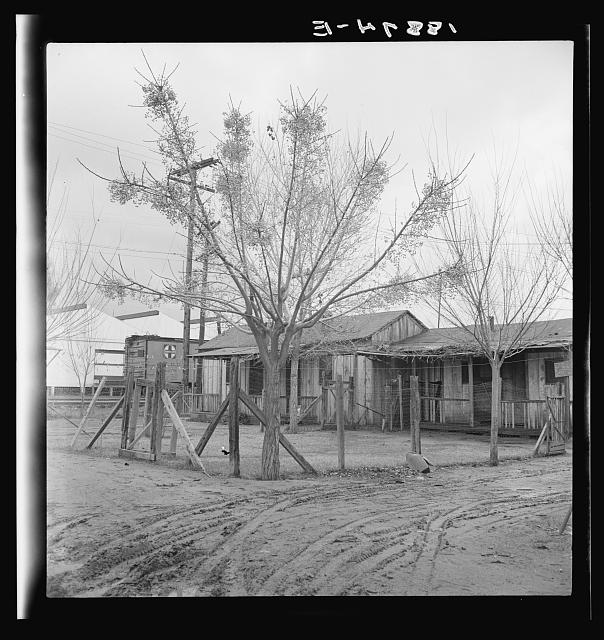 Lindsay, California. Houses inhabited by Mexican citrus workers. Tulare County