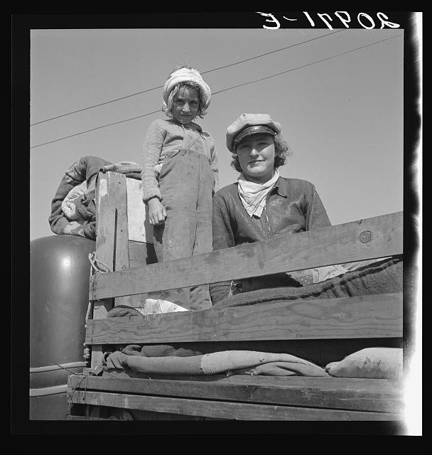 Part of family come for work in potatoes. Tulelake, Siskiyou County, California. Left their home in Turkey, Texas, November, 1938. Picked cotton in Arizona till March. Picked fruit in Oregon till June. Picked prunes in Idaho till September 15th
