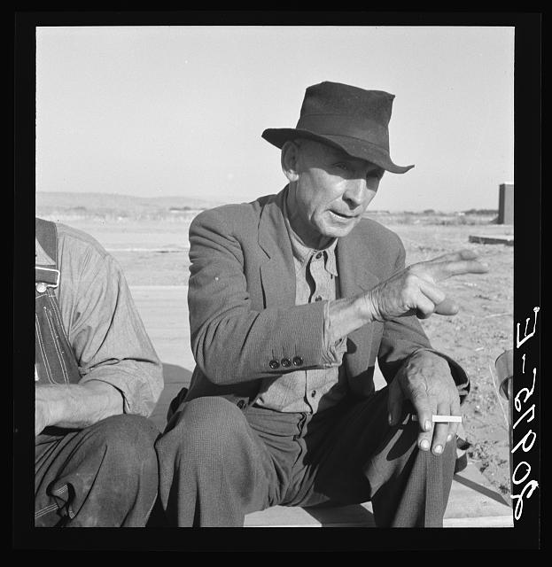 Former Nebraska Farmer, now a migrant farm worker. Klamath County, Oregon. See general caption 62-111