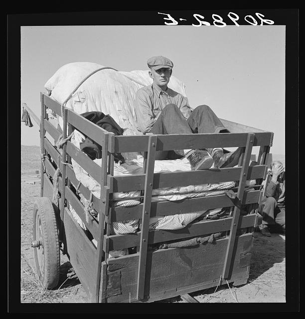 Farm boys from western Nebraska, now migrating farm workers on the Pacific Coast. Merrill, Klamath County, Oregon