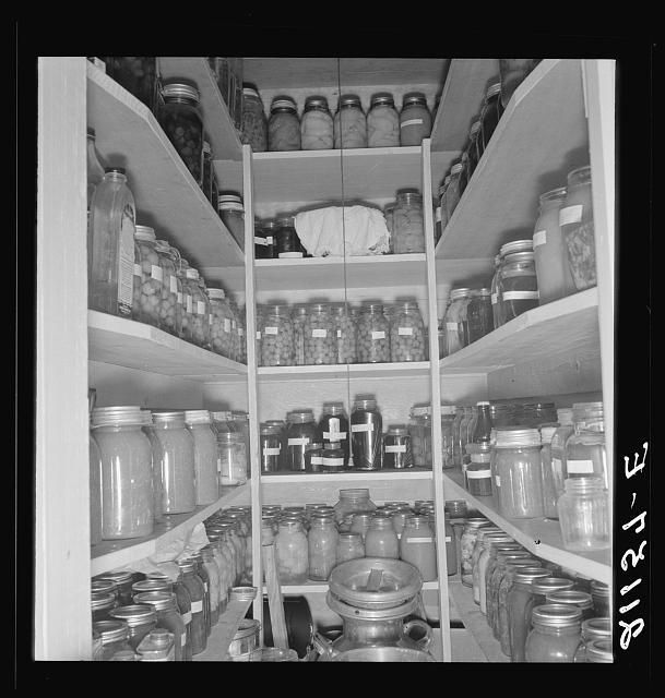 "Mrs. Granger's storeroom. She has 500-600 quarts of canned food. ""You never know what may happen."" Yamhill farms. (FSA - Farm Security Administration). Yamhill County, Williamette Valley, Oregon"