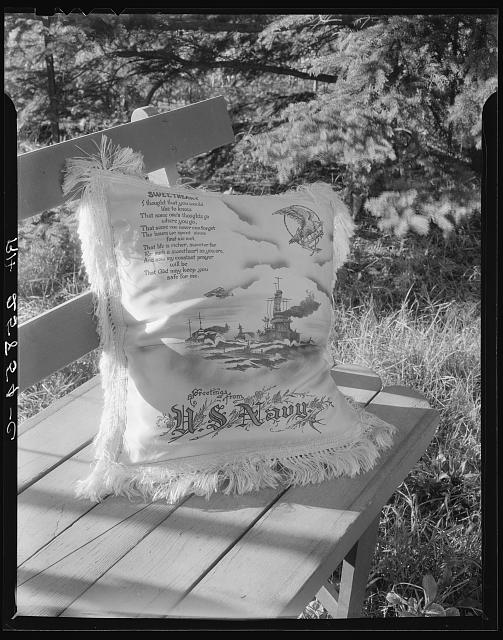 Souvenir pillow. Rockland, Maine