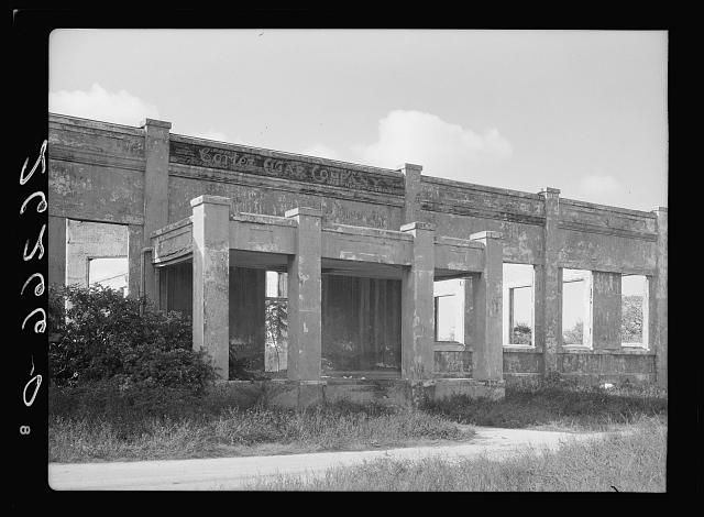 Ruins of abandoned cigar factory. Loss of this industry helped make Key West a ghost town. Florida
