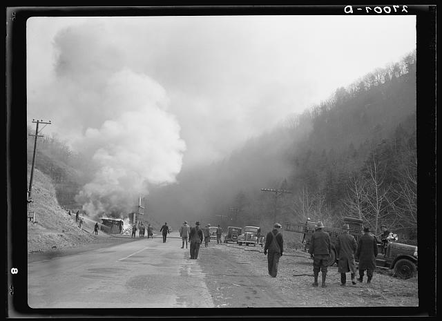 Rural fire department in action near Romney, West Virginia
