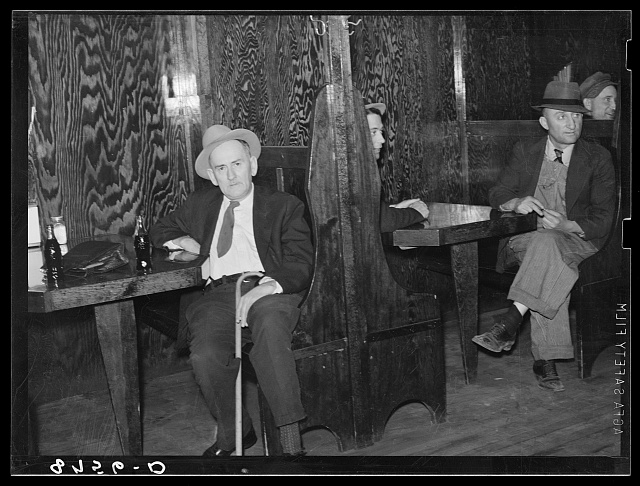 Men in booths. North Platte, Nebraska. Saloon