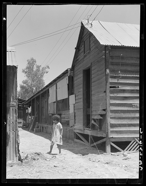 Home of Mexican field laborers. Brawley, Imperial Valley, California