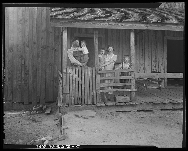 Tenant family with six children who are rural rehabilitation clients of the Farm Security Administration. Greene County, Georgia