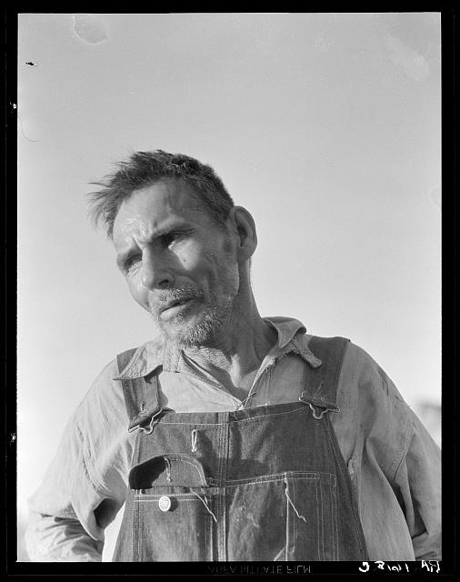 "Imperial Valley, California. Old Mexican laborer saying ""I have worked all my life and all I have now is my broken body"""