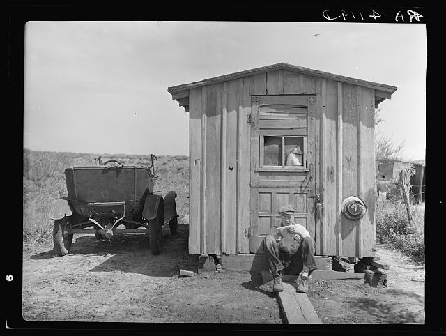 Home of worker in strip coal mine. Cherokee County, Kansas