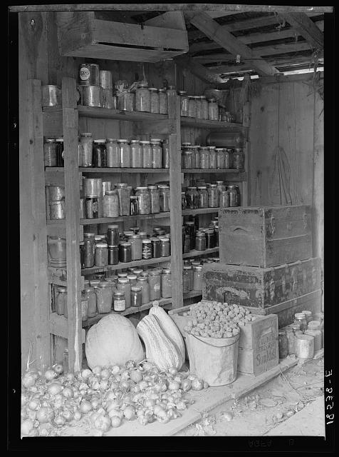 Rural rehabilitation, Tulare County, California. This family had been on relief. They are now re-established on a small farm, where their cash outlay for food is about two dollars and fifty cents a week for a family of seven
