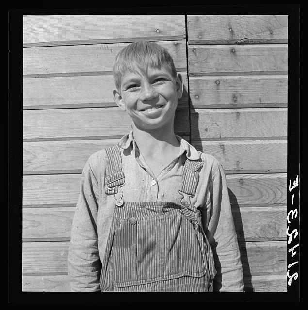 One of the younger Cleaver boys on new farm in Malheur County, Oregon