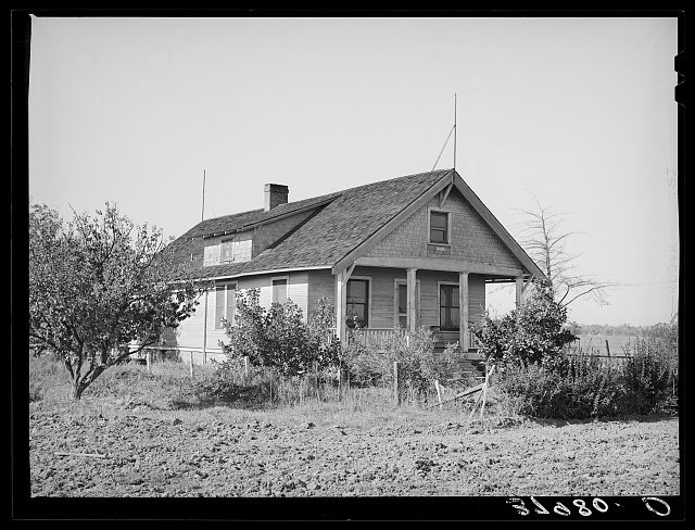 Farm home of Elof Hansen owner of land in Yuba County, California. He owes federal land bank loan of twenty-two hundred dollars against this land (as of March 13, 1939)