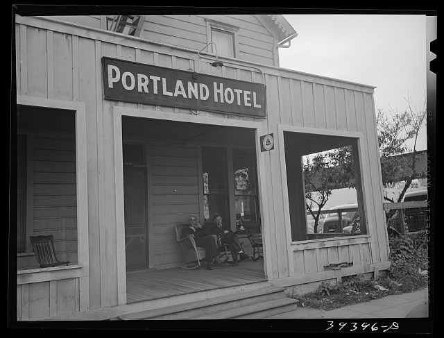 Exterior of the Portland Hotel. San Diego, California
