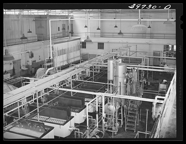 Pasteurizing equipment at the Dairymen's Cooperative Creamery. Caldwell, Canyon County, Idaho