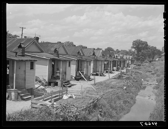 Backs of Negro houses in Durham, North Carolina