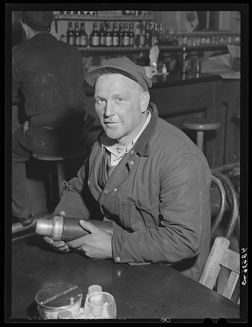 Portrait of Eddie Burns,  works at Bath Iron Works and lives in North Bath, Maine