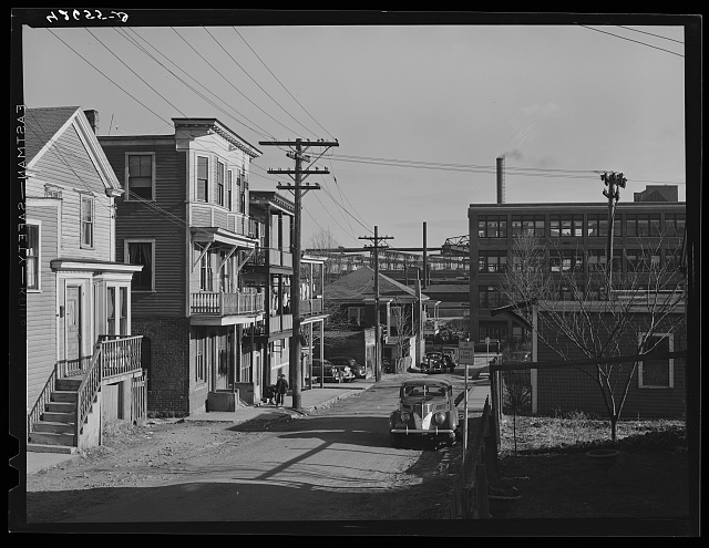 A Syrian neighborhood near the shipyards. Slum area where many shipyard workers live. Winter Street, Quincy, Massachusetts