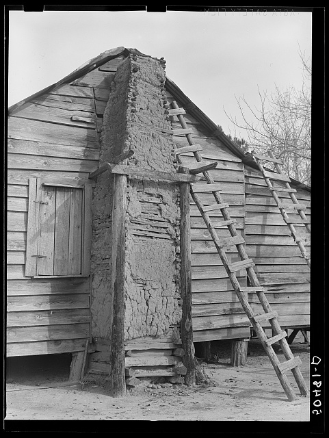 Negro home with mud chimney. South Carolina