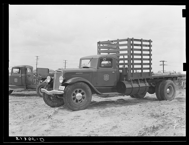 Repaired truck. FSA (Farm Security Administration) warehouse depot. Atlanta, Georgia