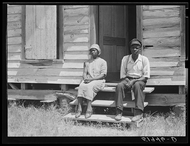 John Houston's rented shack. Broomfield section, Ladys  Island, Beaufort, South Carolina. He is a FSA (Farm Security Administration) client