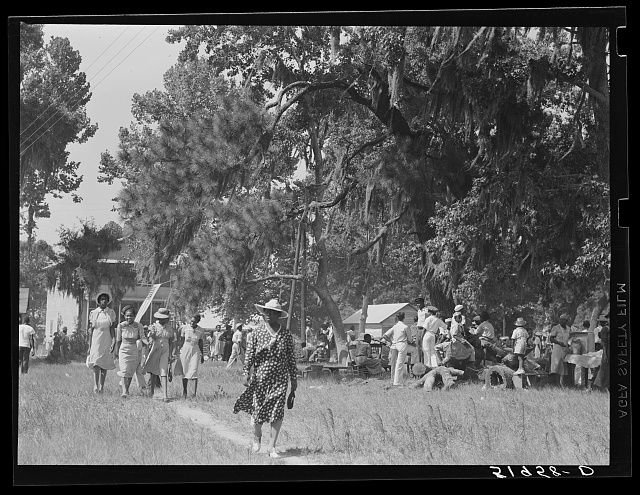 Negro picnic at Beaufort, South Carolina. July fourth