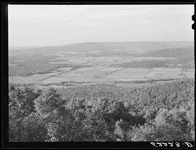 View from Cumberland Plateau near Monteagle, Tennessee