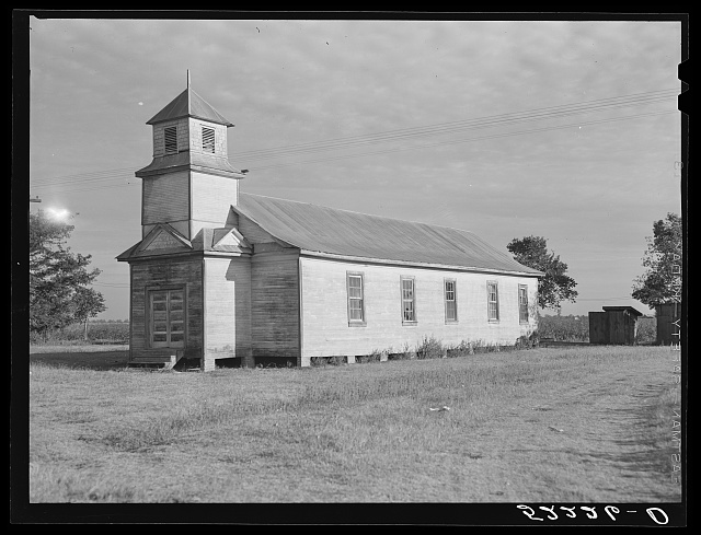 Church on Knowlton Plantation. Perthshire, Mississippi Delta, Mississippi
