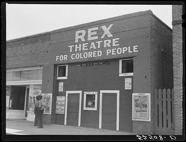 Rex Theatre for colored people. Leland, Mississippi Delta
