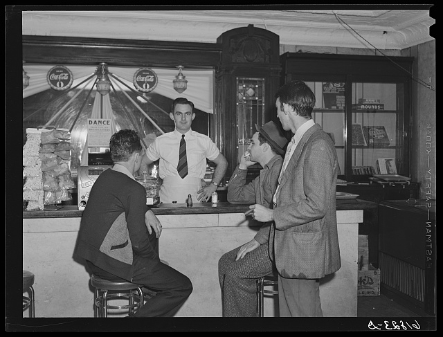 Boys in soft drink parlor. Central City, Kentucky