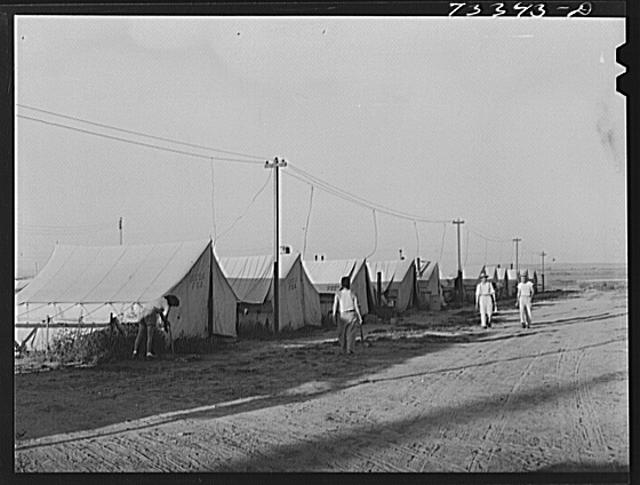 Nyssa, Oregon. FSA (Farm Security Administration) mobile camp which is now occupied by Japanese-Americans who have been evacuated from coastal regions